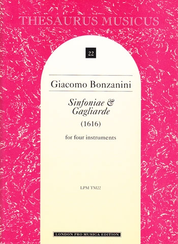 Bonzanini, Giacomo - Sinfoniae & Gagliarde - SATB