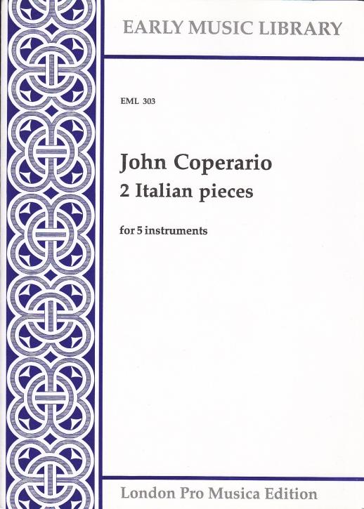 Coprario, John - 2 Italien Pieces - SATTB