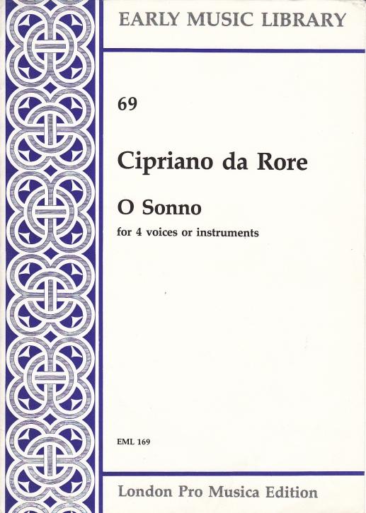 Rore, Cipriano de - O sonno - SATB