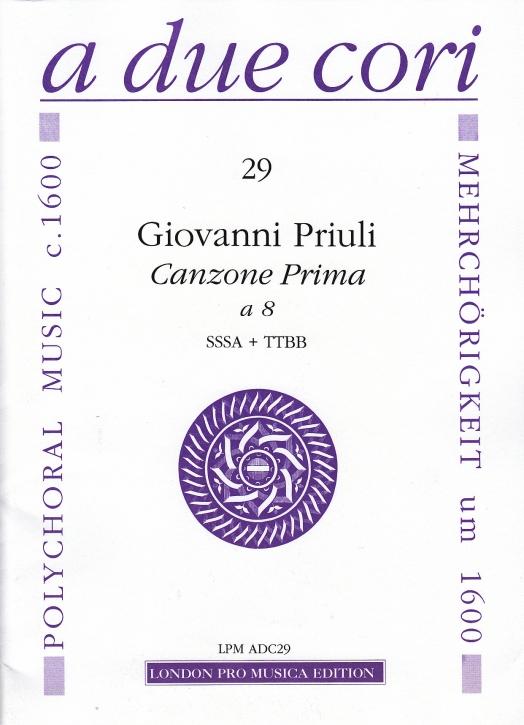 Priuli, Giovanni - Canzone Prima a 8 - SSSA + TTBB