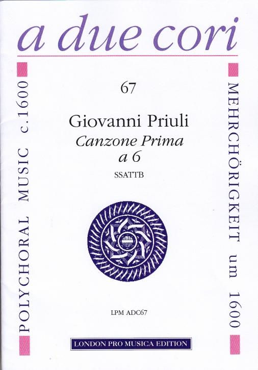 Priuli, Giovanni - Canzone Prima - SSATTB