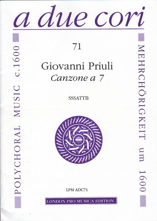 Priuli, Giovanni - Canzone à 7 - SSSATTB