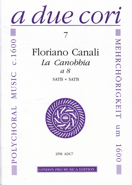 Canali, Floriano - Canzona 'La Canobbia' - SATB + SATB