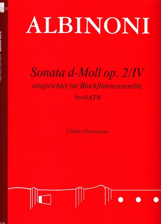 Albinoni, Tommaso - Sonata d-moll op. 2 / IV - SnSATB