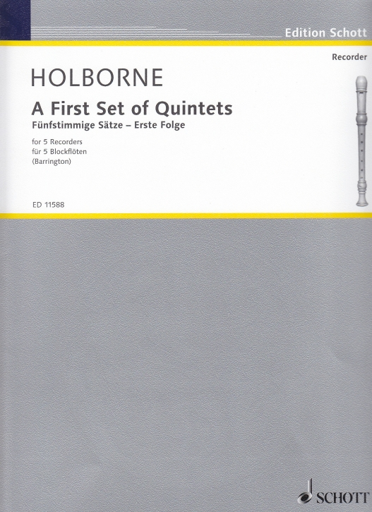 Holborne, Anthony - A First Set Of Quintets - SSATB