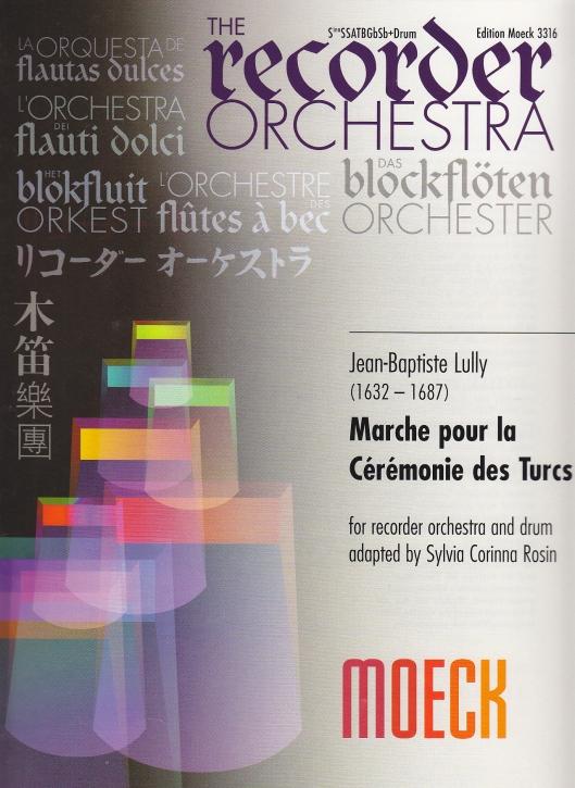 Lully, Jean-Baptiste - Marche pour la Cérémonie des Turcs - SnSSATBGbSb/Drum
