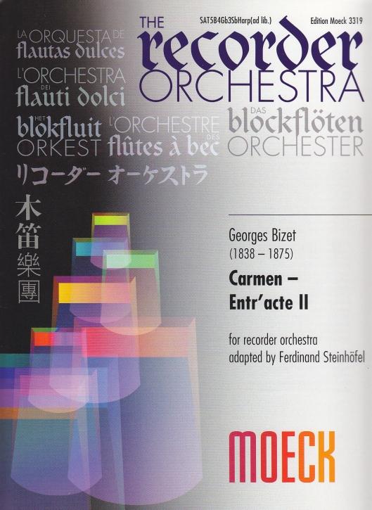 Bizet, Georges - Carmen - Entr'acte II -  SATBBBBBGbGbGbGbSbSbSb/Harfe ad lib.