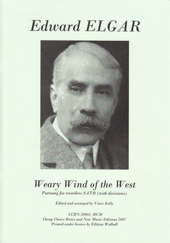 Elgar, Edward - Weary Wind of the West - SATB