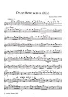Maute, Matthias - Once there was a child - Altblockflöte solo