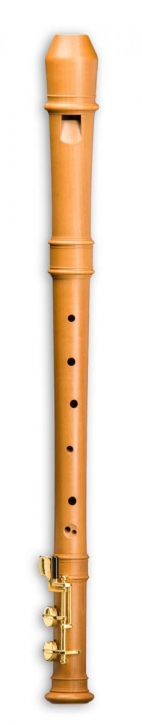 Modern alto recorder Mollenhauer 5926 with F-foot, pearwood