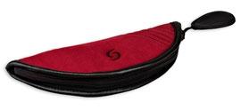 Flötentasche für Sopranblockflöte mit Ledereinfassung