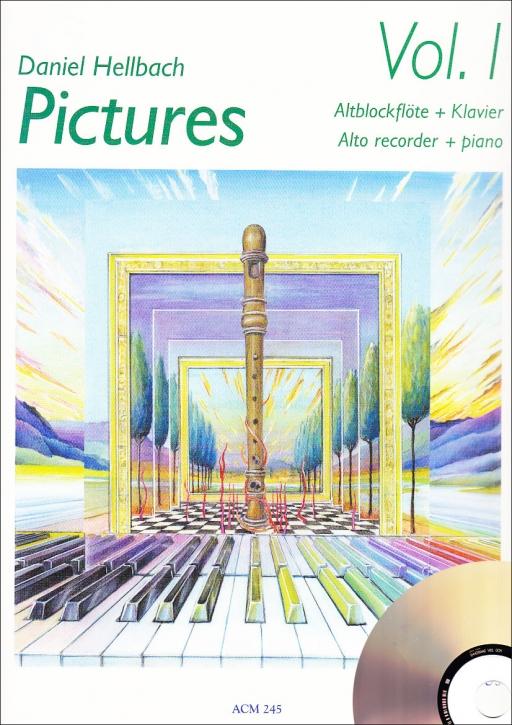 Hellbach, Daniel - Pictures Vol. 1 -  treble recorder + CD
