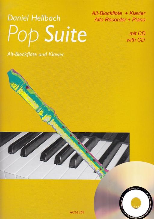 Hellbach, Daniel - Pop-Suite - treble recorder + CD