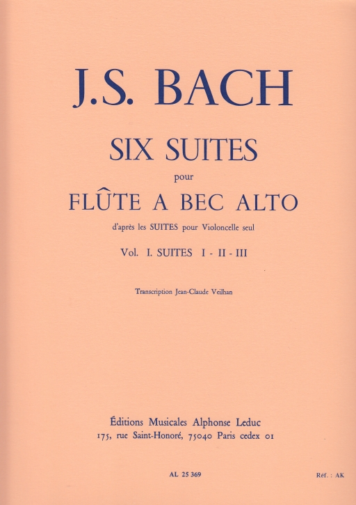 Bach, Johann Sebastian - Sechs Suiten Vol. 1 BWV 1007-9 - Treble solo