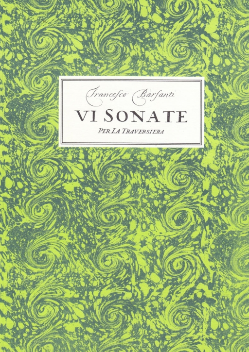 Barsanti, Francesco - Six  sonatas op. 2 - treble recorder and basso continuo