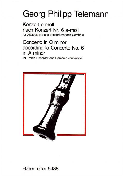 Telemann, Georg Philipp - Konzert c-moll - Altblockflöte und Cembalo concertato