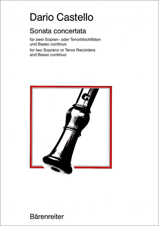 Castello, Dario - Sonata Concertata - 2 Sopranblockflöten und Bc.