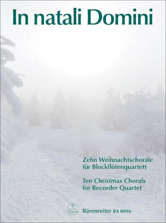 In natali Domini - Recorder Quartet  SATB
