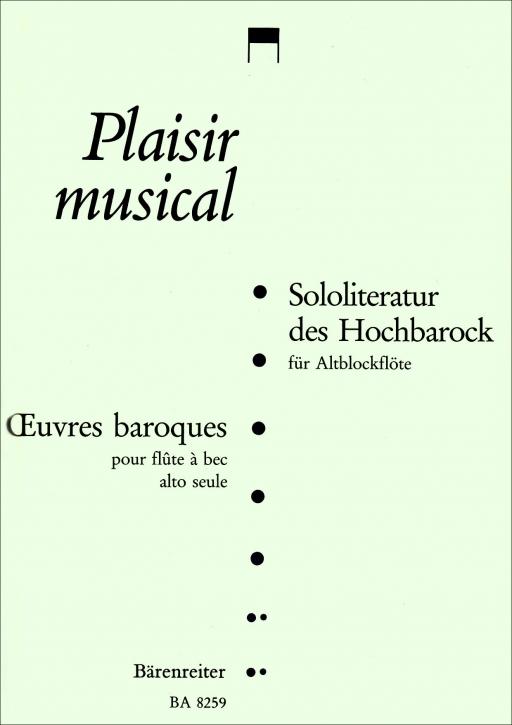 Sololiteratur des Hochbarock - Altblockflöte