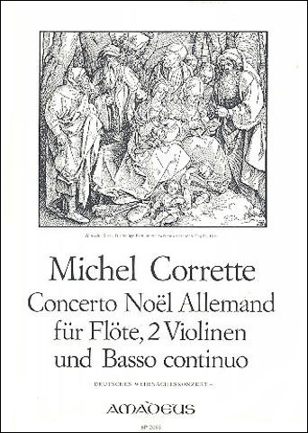 Corrette, Michel - Concerto Noel Allemand - Treble Recorder, 2 Violines and Bc.