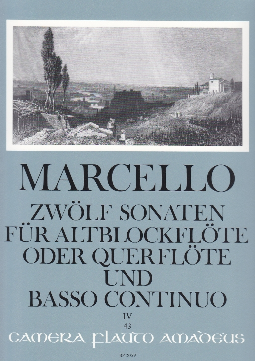 Marcello, Benedetto - Zwölf Sonaten op. 2 Band 4 - Altblockflöte und Basso continuo