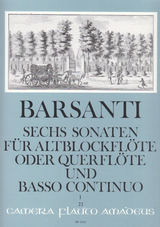 Barsanti, Francesco - Six Sonatas Vol. 1 - treble and basso continuo