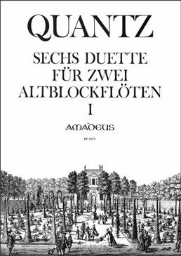 Quantz, Johann Joachim - Sechs Duette -  Heft 1 2 Altblockflöten