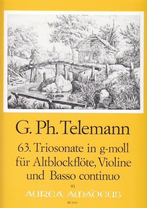 Telemann, Georg Philipp - 63. Triosonate g-moll - Altblockflöte, Violine und Bc.