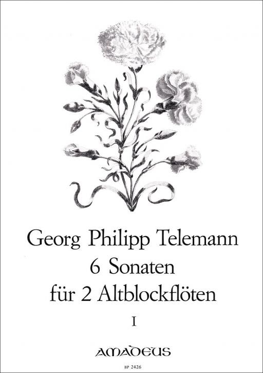 Telemann, Georg Philipp - Sechs Sonaten -  Band 1 2 Altblockflöten
