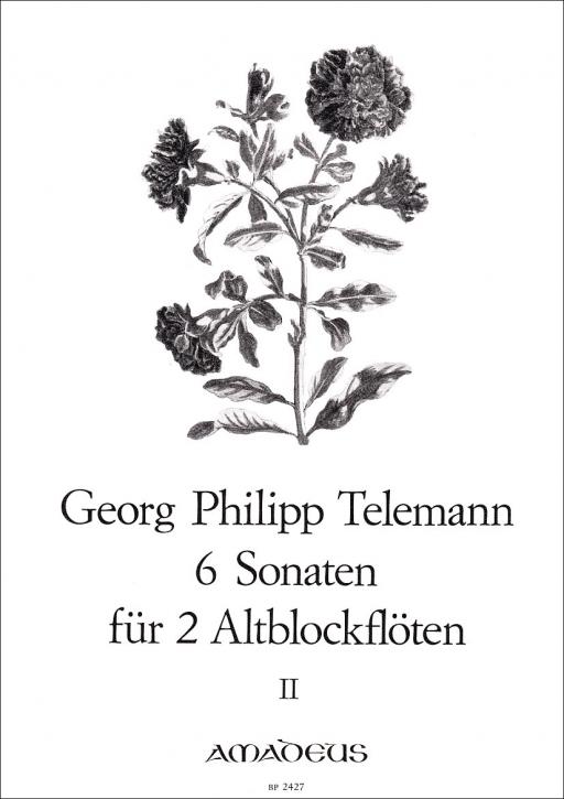 Telemann, Georg Philipp - Sechs Sonaten -  Band 2 2 Altblockflöten