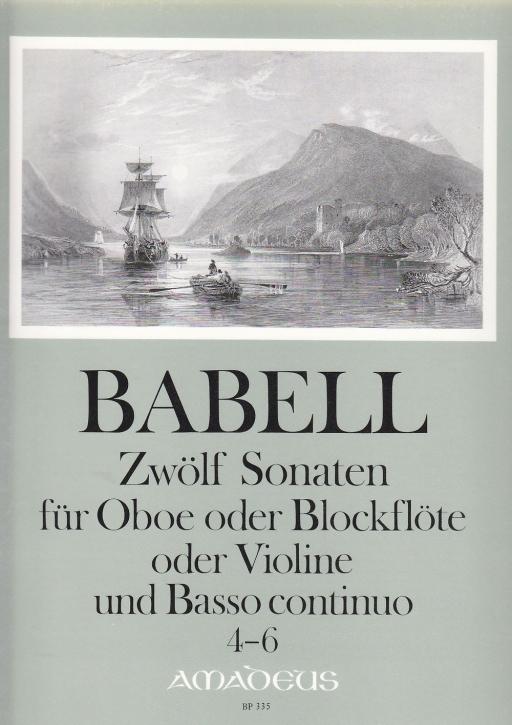 Babell, William - Zwölf Sonaten  Heft 2, Sonaten 4-6 - Sopranblockflöte und Basso continuo