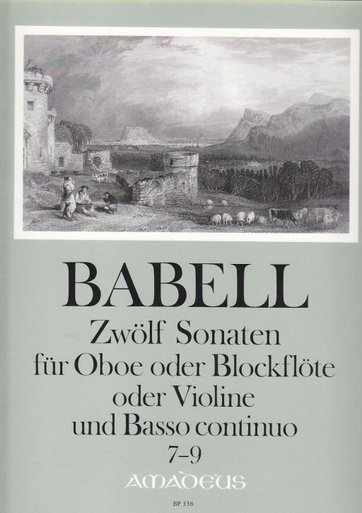Babell, William - Zwölf Sonaten Heft 3, Sonaten 7-9 - Sopranblockflöte und Basso continuo