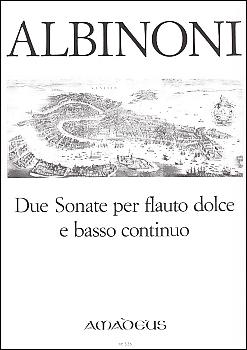 Albinoni, Tomaso - 2 Sonatas - Treble and Basso continuo