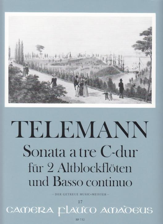 Telemann, Georg Philipp - Triosonate C-dur - 2 Altblockflöten und Bc.