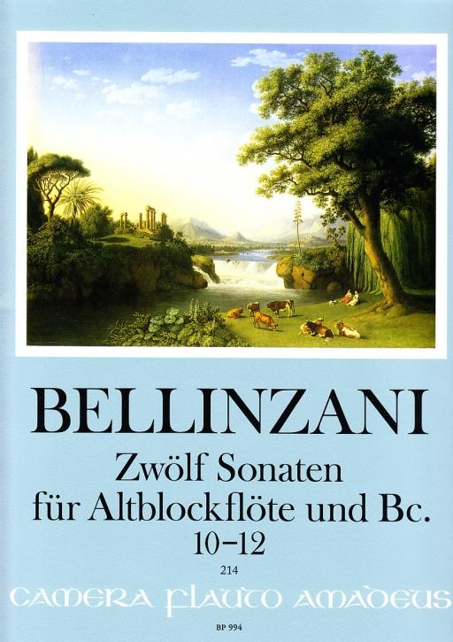 Bellinzani, Paolo Benedetto - Zwölf Sonaten, Band 4 - Altblockflöte und Basso continuo