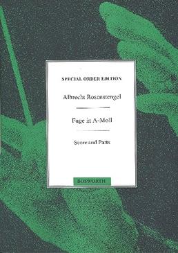 Bach, Johann Sebastian - Fuge a-moll  - SATB und Percussion ad lib.