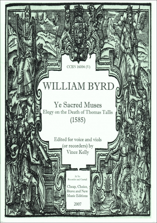 Byrd, William - Ye Sacred Muses - Sopran/ATTB/Bc. ad.lib.