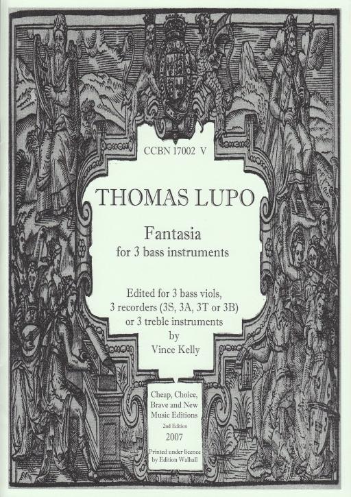 Lupo, Thomas - Fantasia - Blockflötentrio