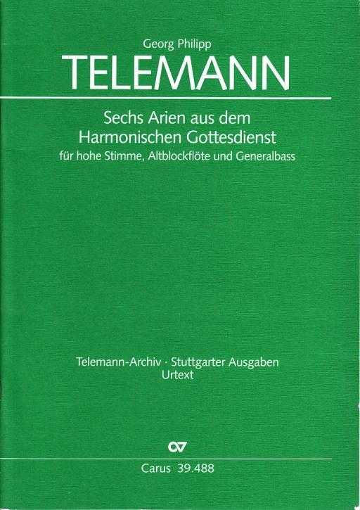 Telemann, Georg Philipp - Harmonischer Gottesdienst - Hohe Stimme, Altblockflöte und Bc.