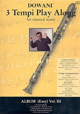 Album (Easy) -  Vol. III - Soprano recorder & CD