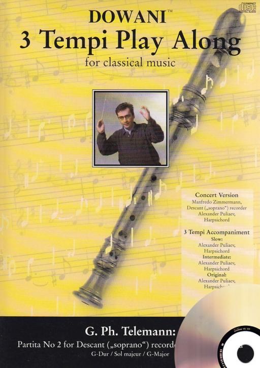 Telemann, Georg Philipp - Partita Nr. 2 G-dur - Sopranblockflöte + CD