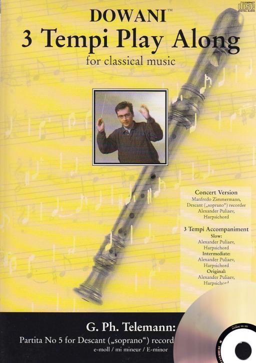 Telemann, Georg Philipp - Partita Nr. 5 e-moll - Sopranblockflöte + CD
