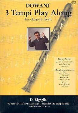 Bigaglia, Diogenio - Sonate a-moll -Soprano recorder & CD