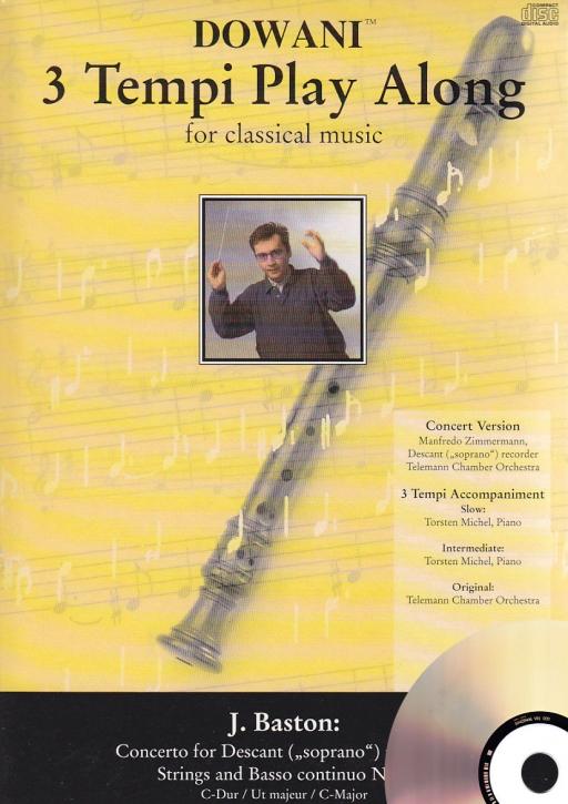 Baston, John - Concerto Nr. 2 C-dur - Sopranblockflöte + CD