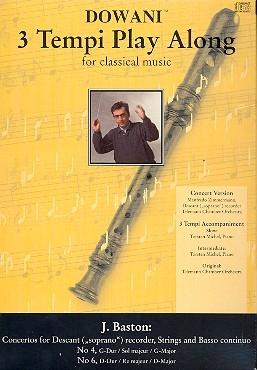 Baston, John - Concerto Nr. 4 G-dur Concerto Nr. 6 D-dur -Soprano recorder & CD