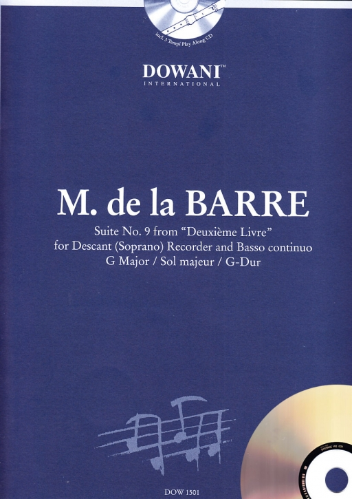 de la Barre, Michel; suite g-major -Soprano recorder & CD