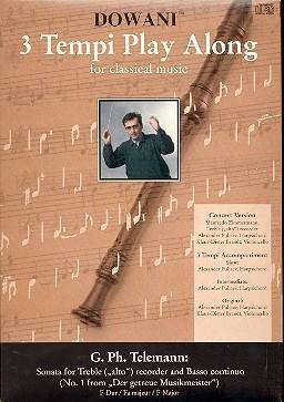 Telemann, Georg Philipp - Sonate F-dur - Altflöte + CD