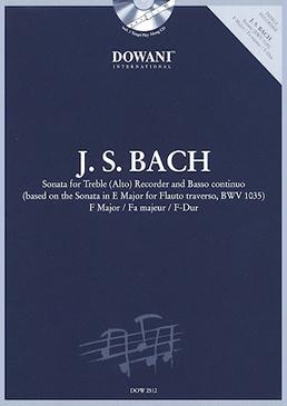 Bach, Johann Sebastian - Sonate F-Dur BWV1035 - Altblockflöte und Bc. + CD