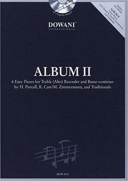 Album II - Sechs leichte Stücke Altblockflöte und Bc. + CD