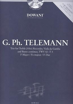 Telemann, Georg Philipp - Trio F-dur - Altblockflöte, Gambe und Bc. + CD
